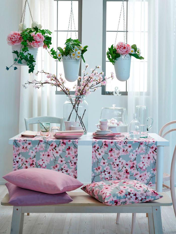Kussenhoes Sekura Apelt grijs/roze