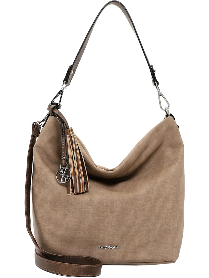 emily & noah - Elke Schultertasche 36 cm  taupe/taupe