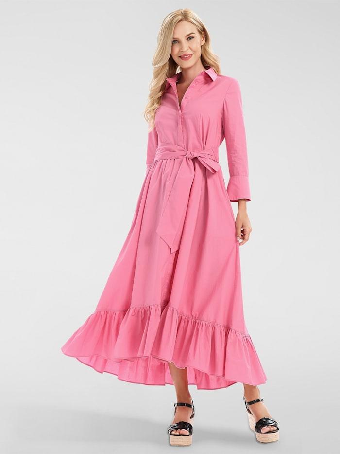 apart - Maxi-Kleid mit Volant-Saum  rose