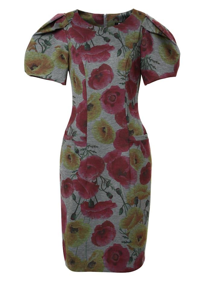 madam-t - Cocktailkleid Kleid Angelica  grau/ senf