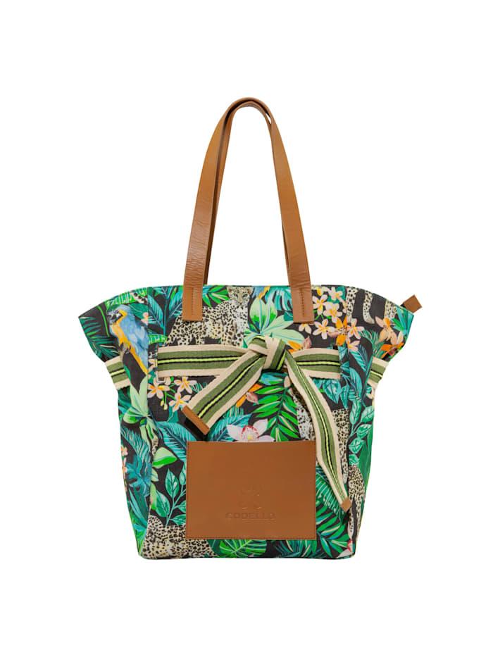 codello - Canvas-Shopper mit Exotik-Print  green