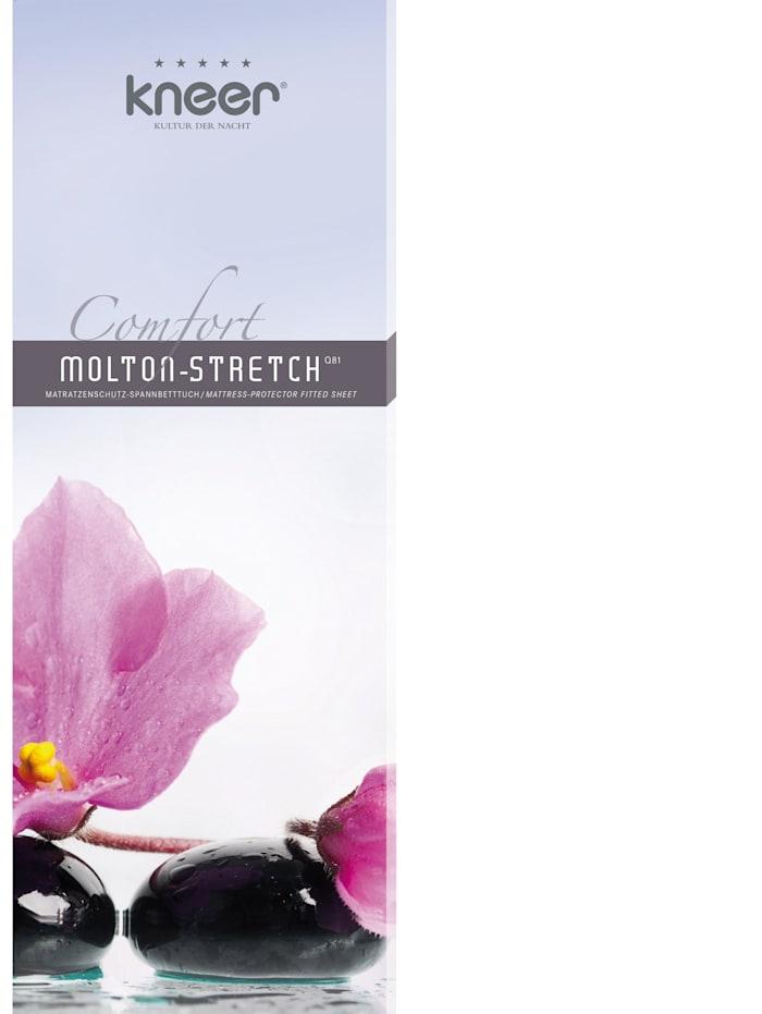 Matratzen Schutzbezug Schonbezug Comfort Molton-Stretch Q 81 bis 25 cm hoch kneer weiß