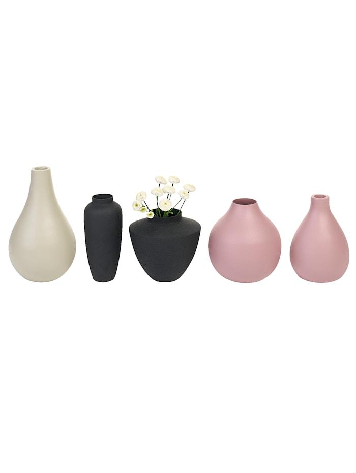 Vasen-Set, 5-tlg., Impressionen living grau