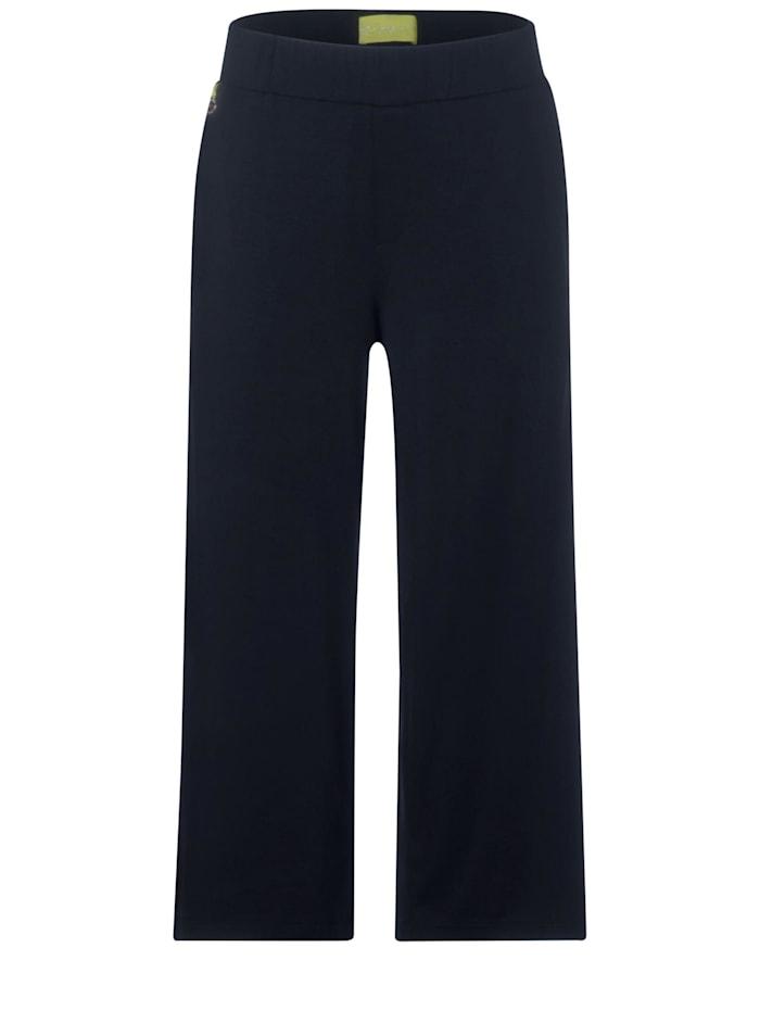 street one - Wide Leg Hose aus Jersey  deep blue