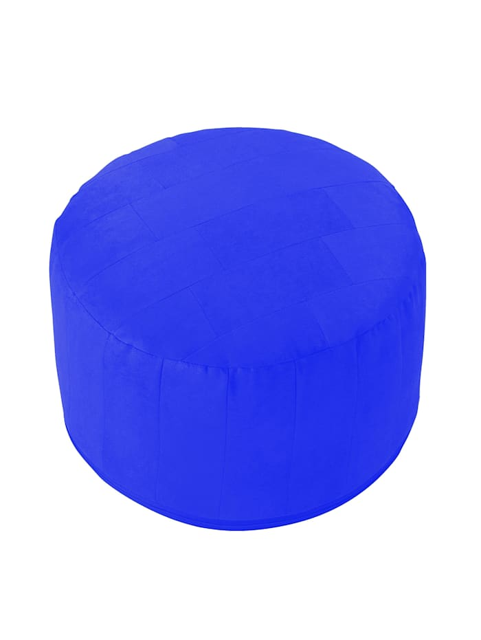 Sitzkissen Hocker Patchwork Ø 50/34 cm Linke Licardo royal-blau