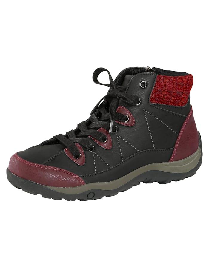 Bottines à lacets Priority Noir::Rouge