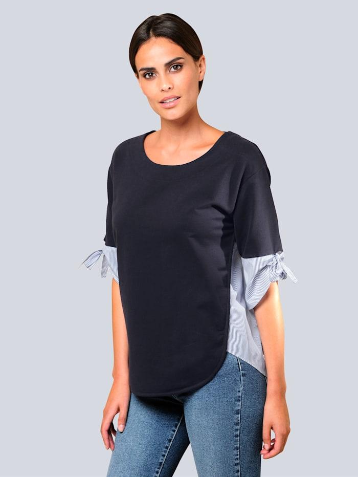 Sweatshirt Alba Moda Marine::Wit::Blauw
