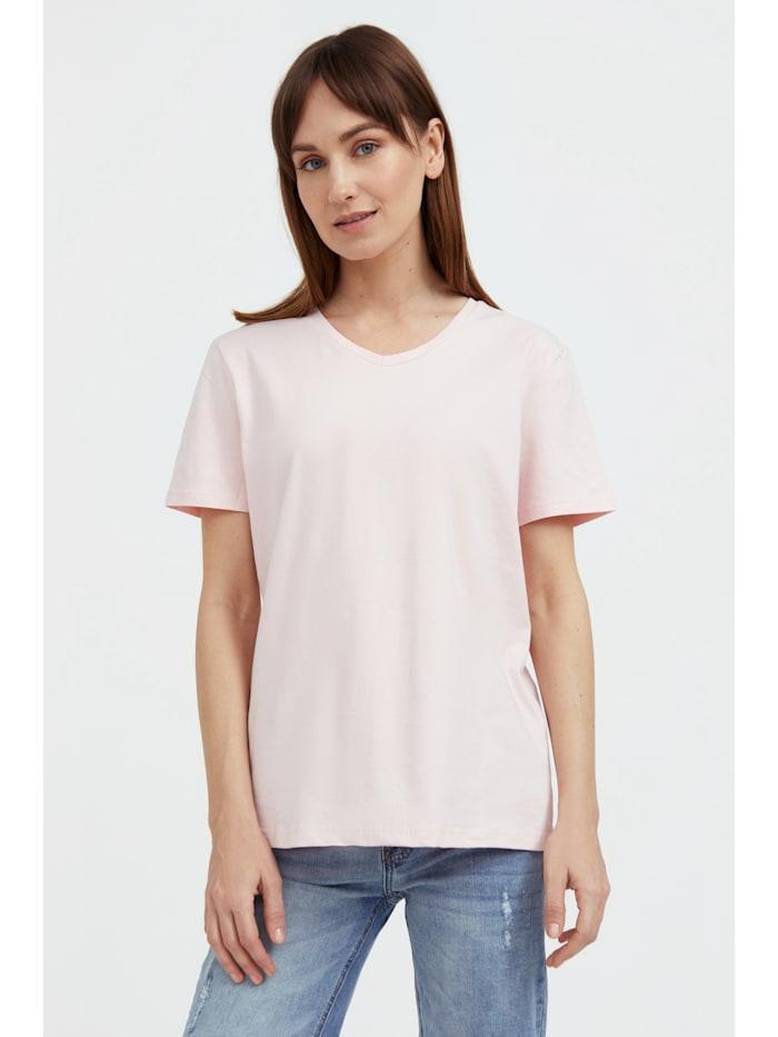 finn flare - Basic Shirt mit V-Ausschnitt  pale pink
