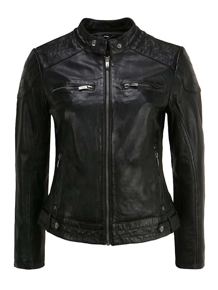 buffalo - Lederjacke BE Loved  black