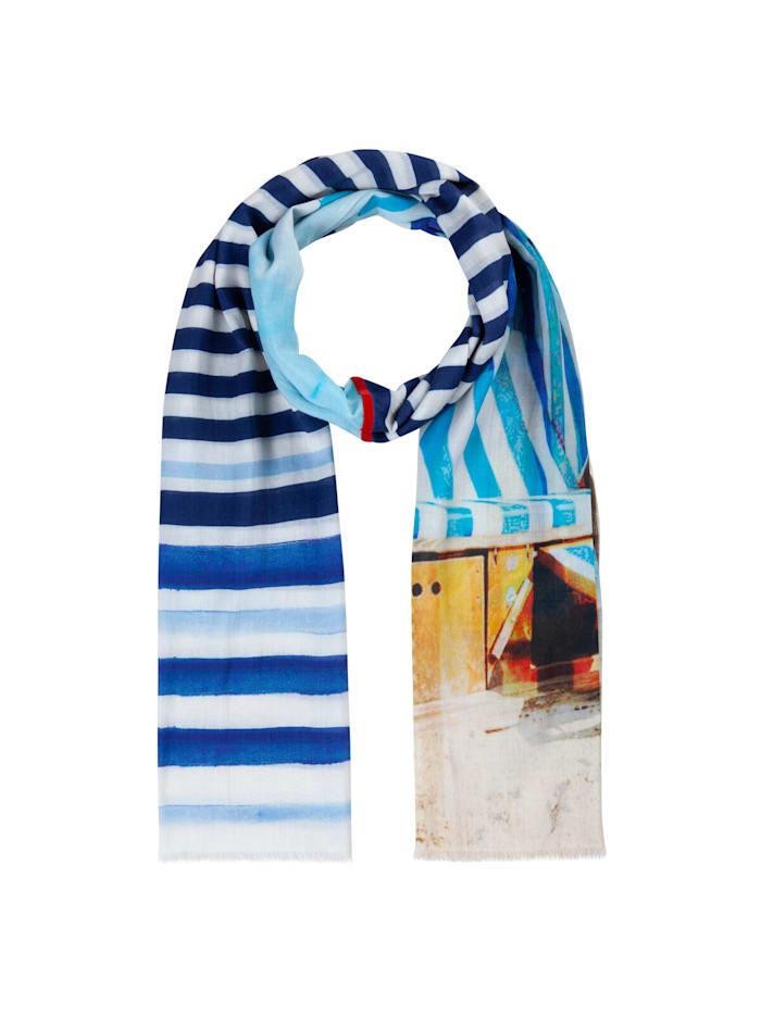 codello - Softer Mustermix-Schal aus Baumwolle und Modal  dark blue