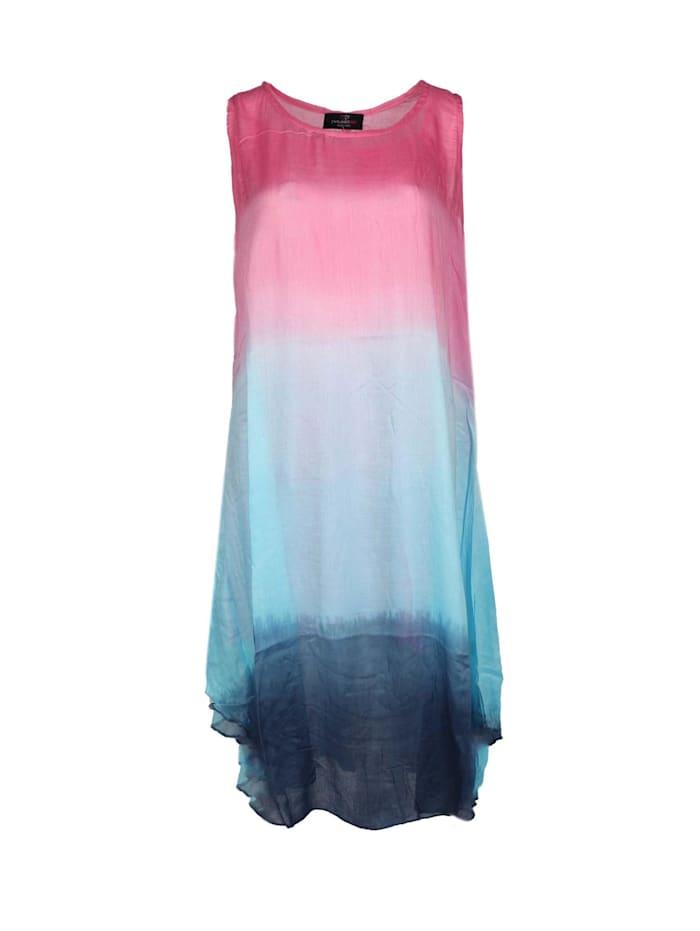 zwillingsherz - Sommerkleid Kleid Batik  pink/türkis
