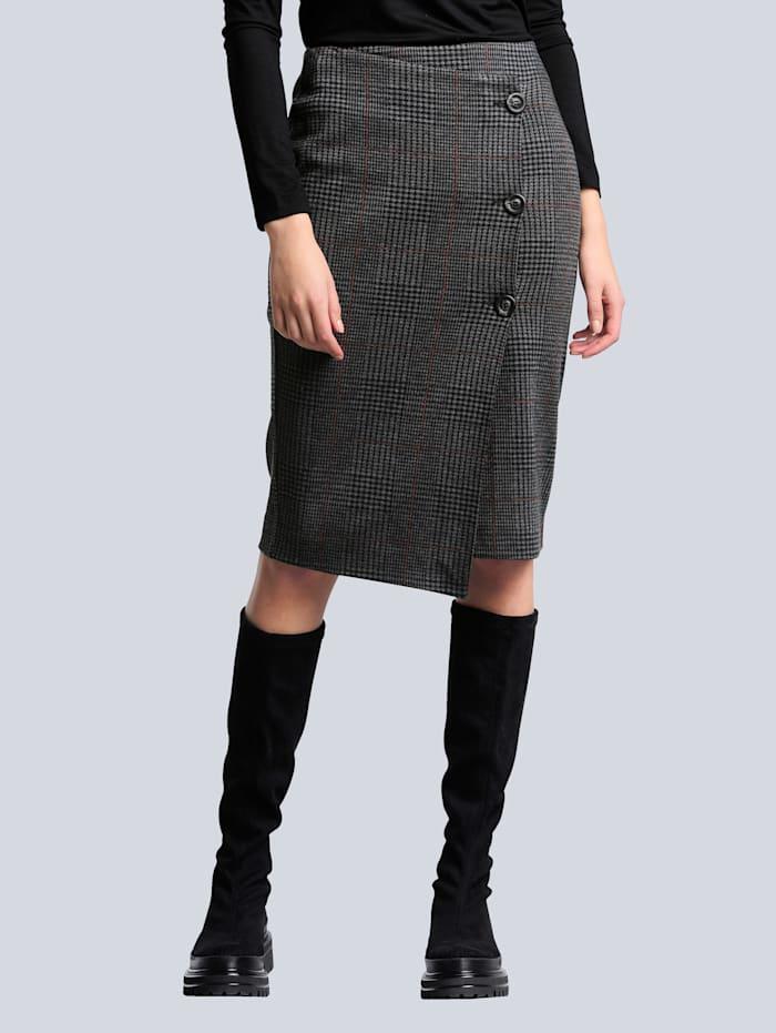 Rok Alba Moda Antraciet::Koperkleur
