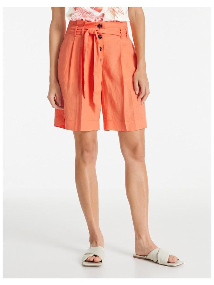 taifun - Kurze Hose aus reinem Leinen  Papaya