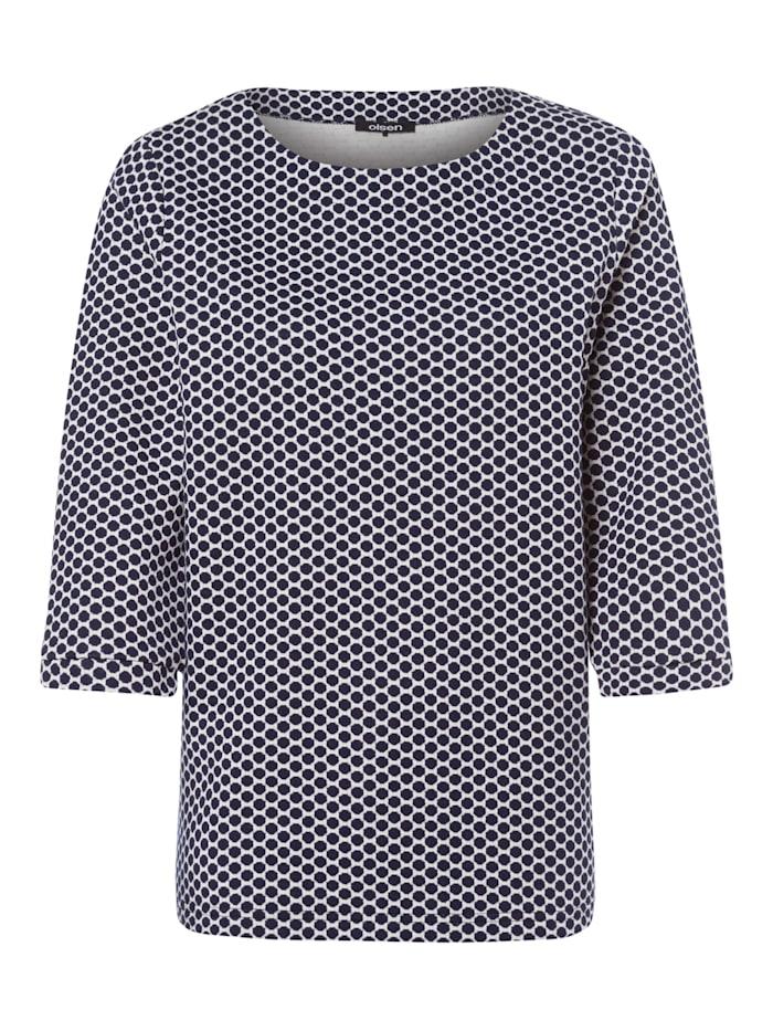 Sweatshirt im Punkt-Design Olsen Ink Blue
