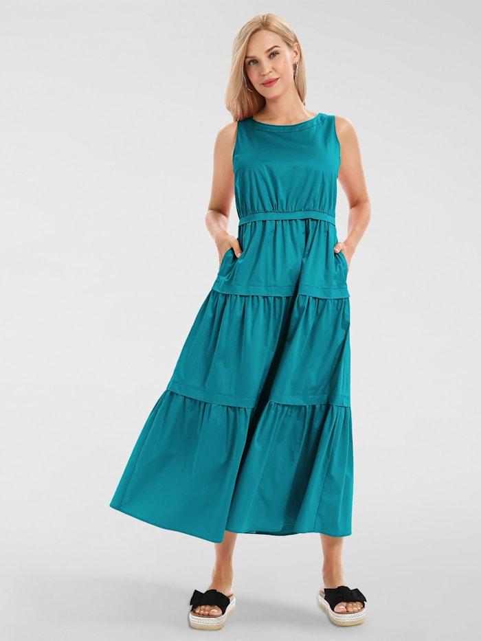 apart - Sommerkleid aus Baumwoll-Satin  aqua