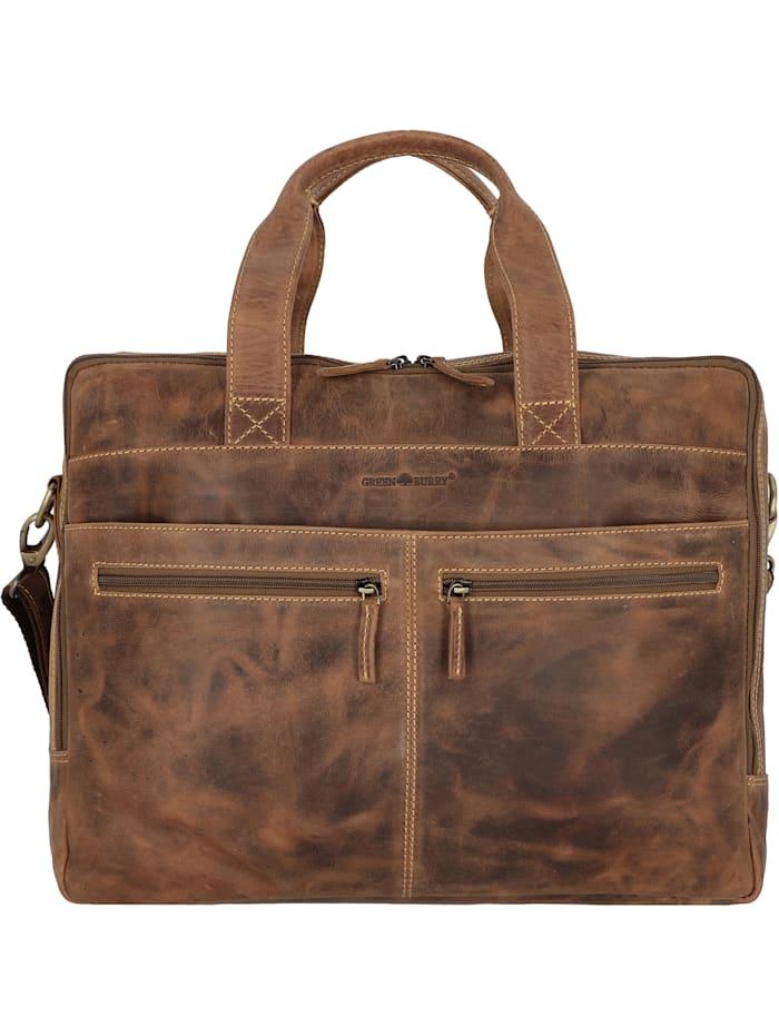 greenburry - Vintage Aktentasche Leder 42 cm Laptopfach  brown
