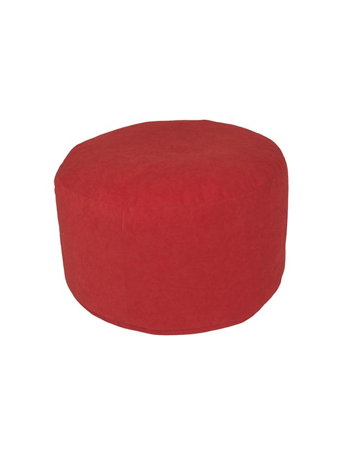 Sitzkissen Hocker Pouf uni Ø47/34 cm Linke Licardo rot