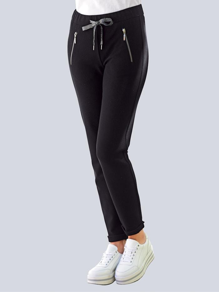 Jersey broek Alba Moda Zwart