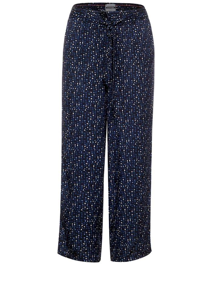 cecil - Wide Leg Hose mit Muster  deep blue
