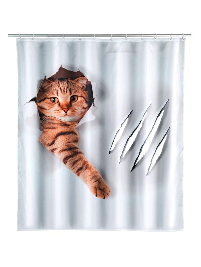 Image of Duschvorhang 'Cute Cat' Wenko Mehrfarbig