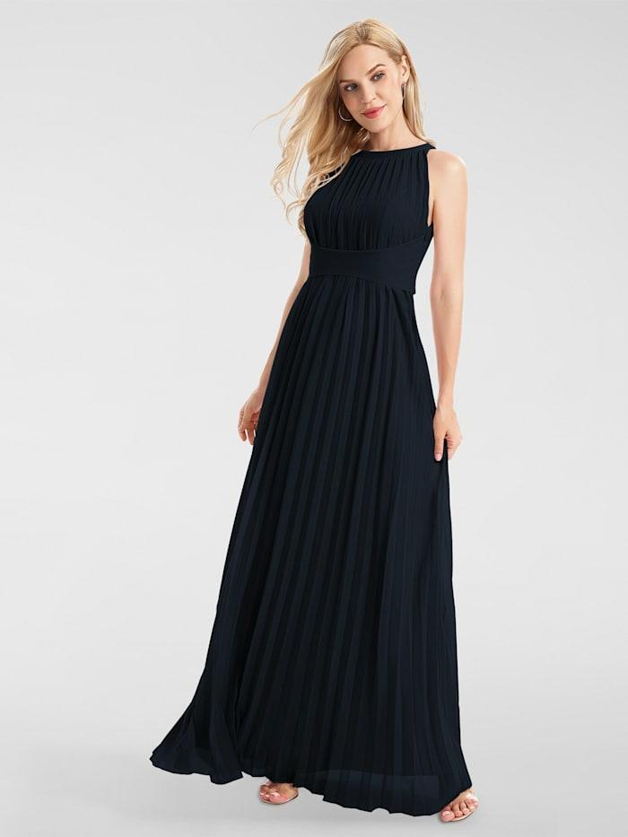 apart - Abendkleid aus plissiertem Chiffon  nachtblau