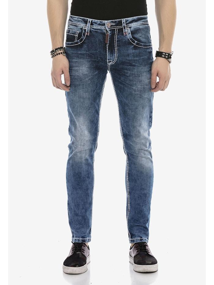 cipo & baxx - Jeanshose in klassischem Design  Blau