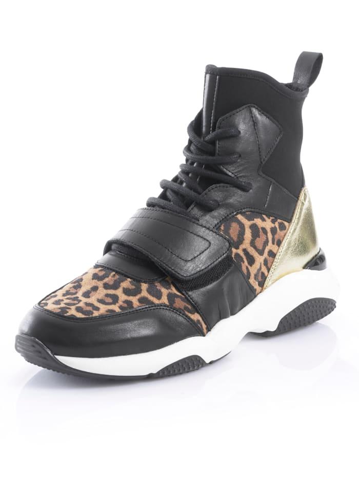 Sneaker Alba Moda Zwart::Bruin