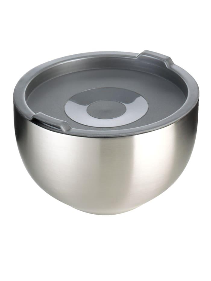 Image of 3er Set Thermoschüsseln aus Edelstahl GSW Silber
