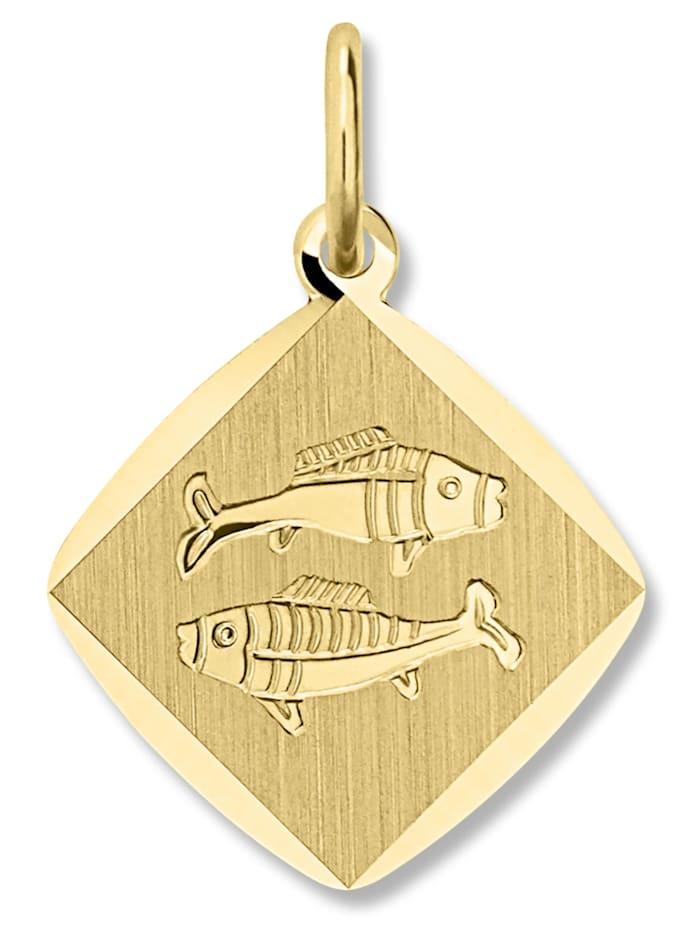 one element - Damen Schmuck Sternzeichen Anhänger Fische aus 333 Gelbgold  gold