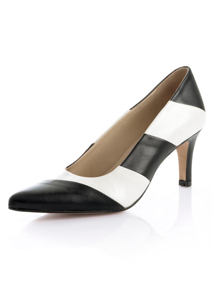 Pump Alba Moda Zwart::Wit