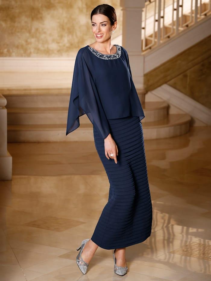 Abendkleid Paola Marineblau