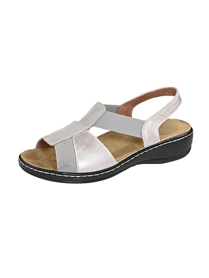 Sandalette Leonie Silberfarben