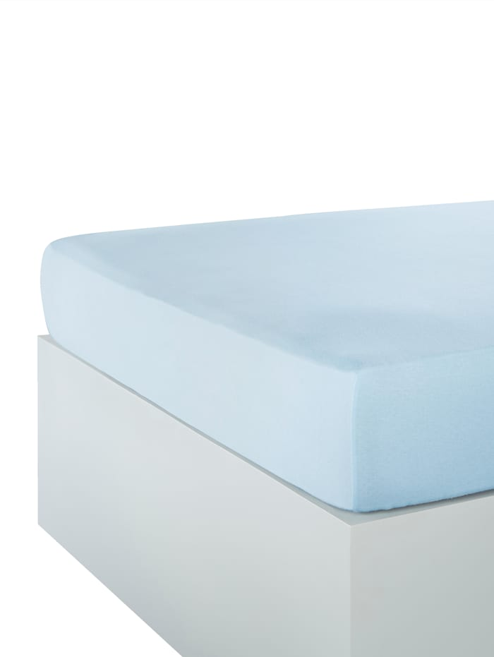 Hoeslaken Webschatz bleu