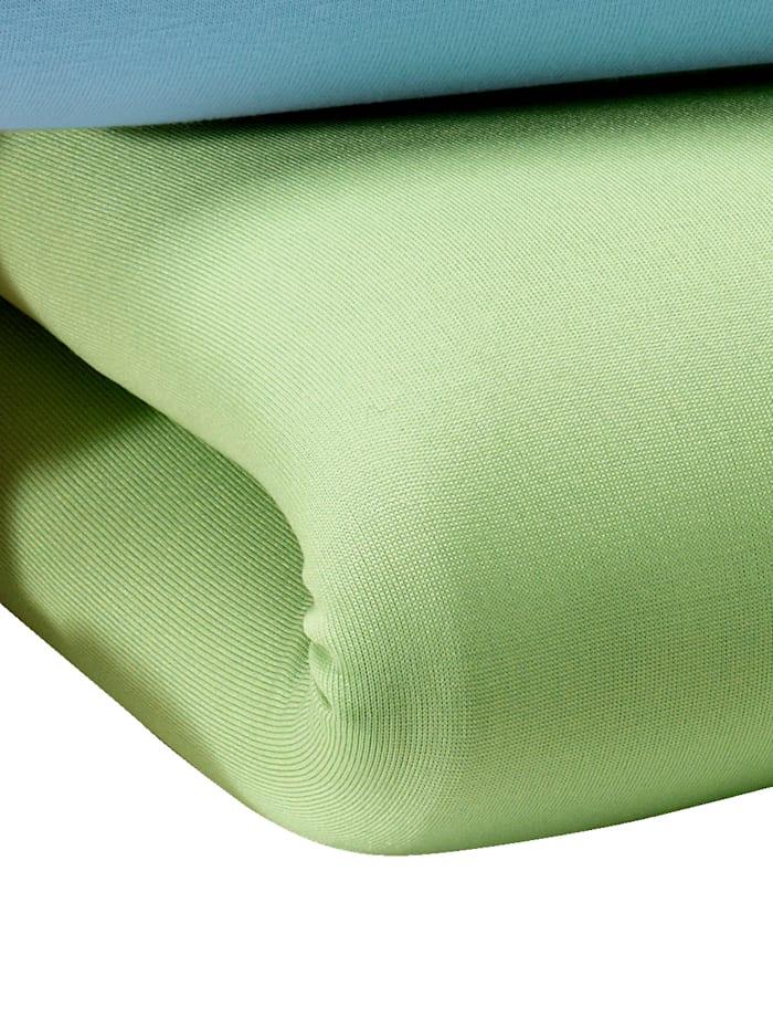 Hoeslakens 2 stuks ´Microfibre´ KLiNGEL groen