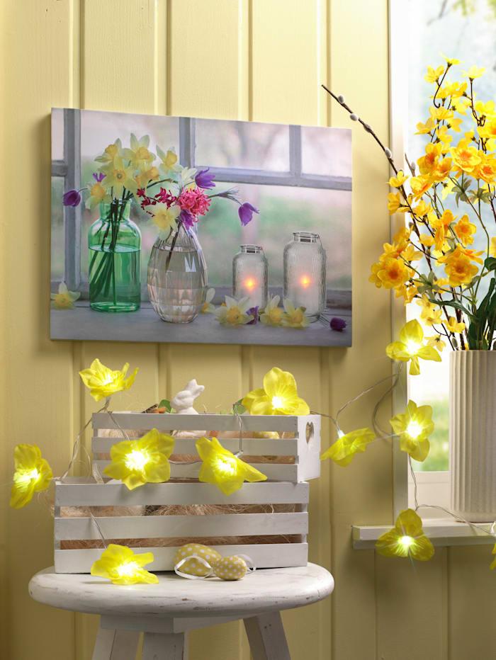 Ledwanddecoratie Bloemen KLiNGEL multicolor