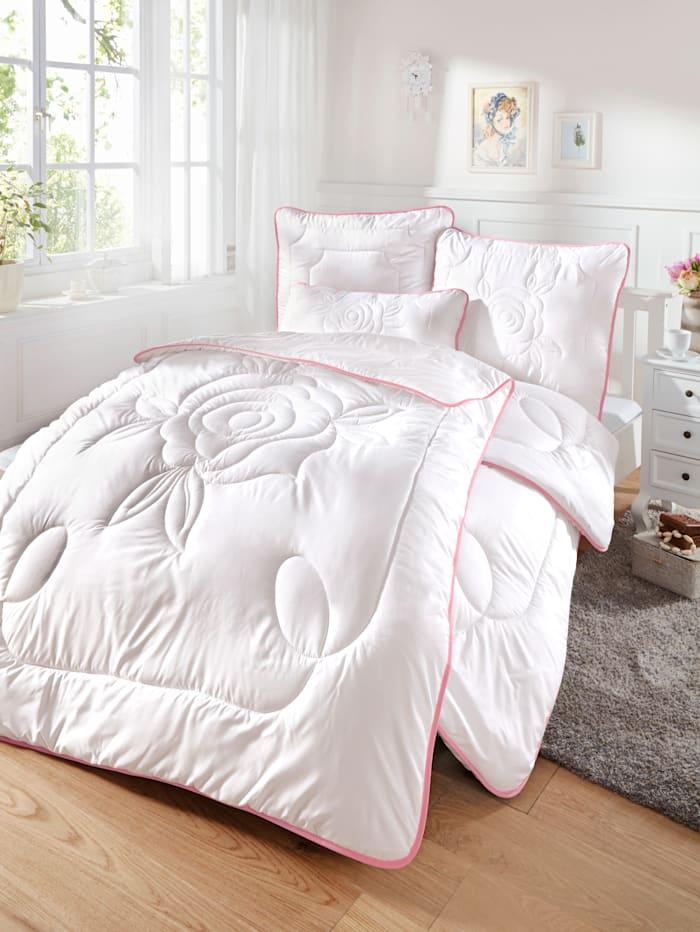 2-delige dekbeddenset Rose Kinzler wit/roze