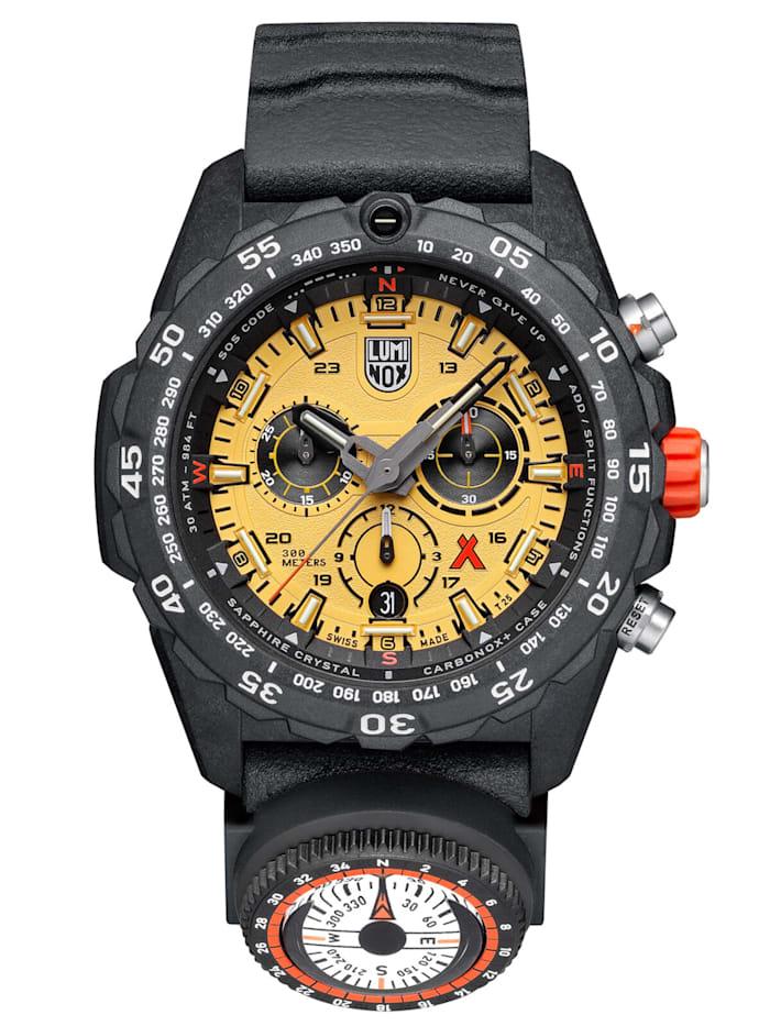 luminox - Chronograph Herrenuhr mit Kompass Bear Grylls Survival  Gelb
