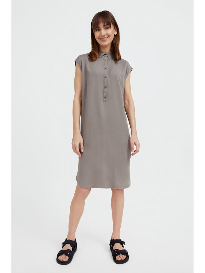 finn flare - Sommerkleid mit halblanger Knopfleiste  light brown