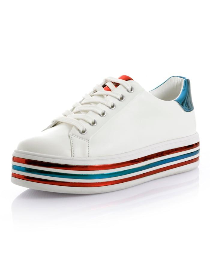 Sneaker Gerry Weber Wit::Blauw::Rood