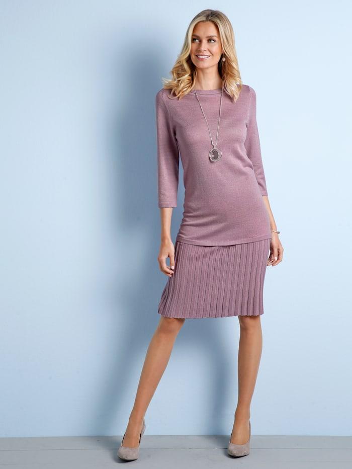 Gebreide jurk Paola Roze