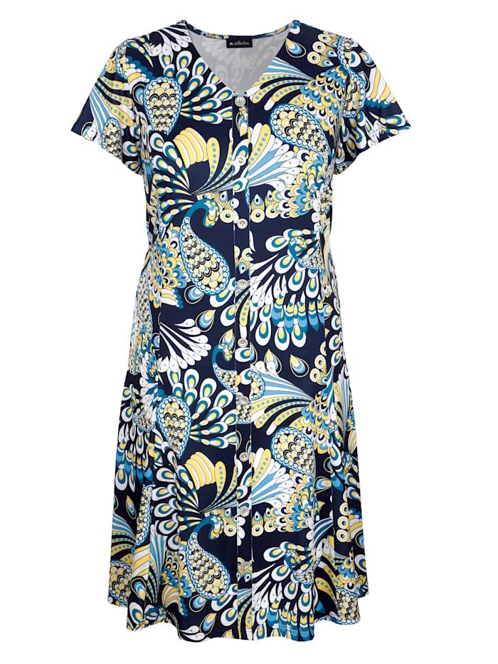 m. collection - Kleid  Marineblau::Gelb::Weiß