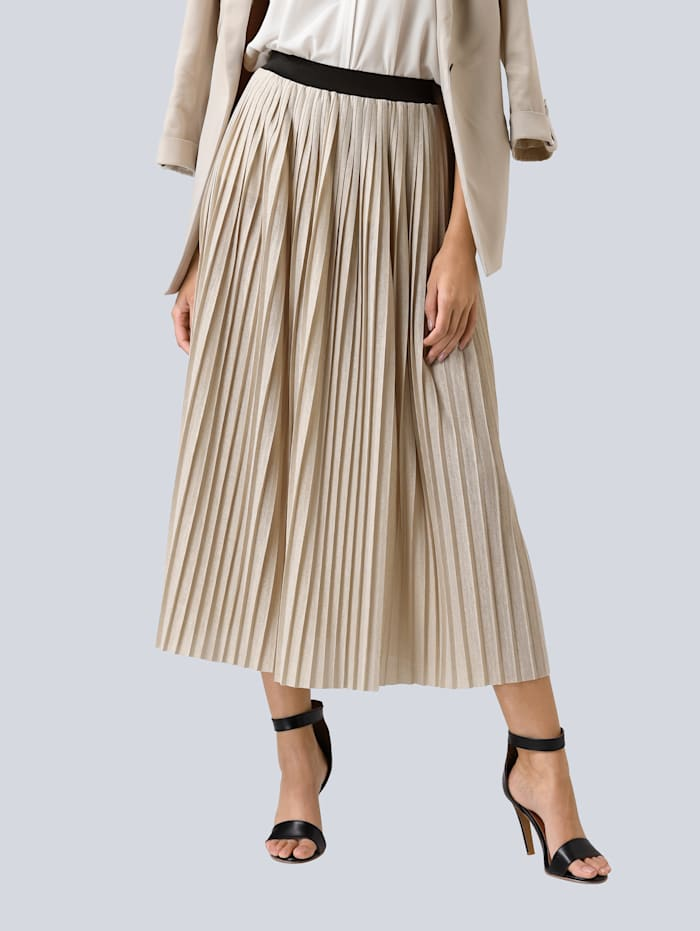 Rok Alba Moda Beige::Goudkleur