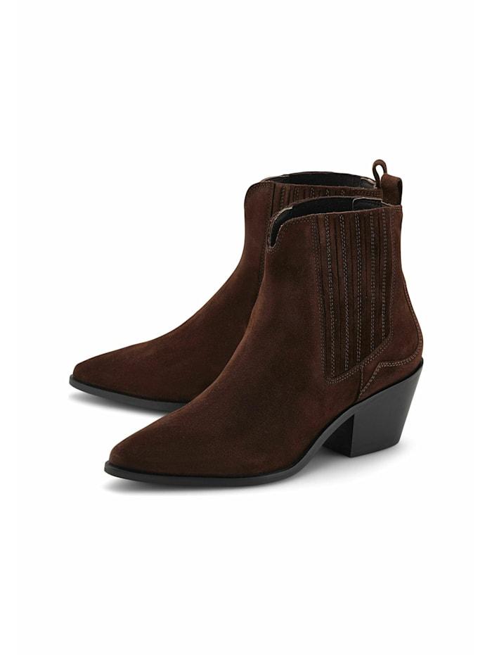 another a - Klassische Stiefeletten Trend-Boots  dunkelbraun