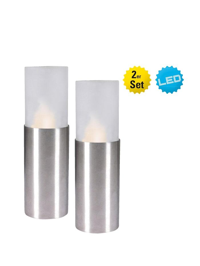 Image of 2er Set LED Kerzen Näve Weiß