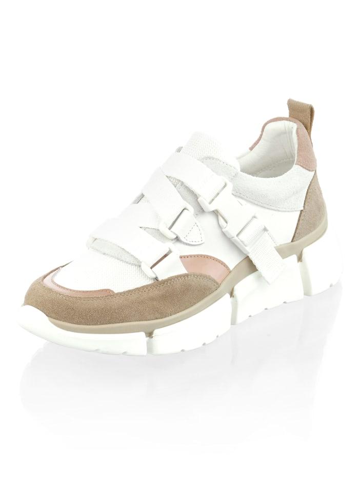 Sneaker Alba Moda Wit::Nude::Taupe