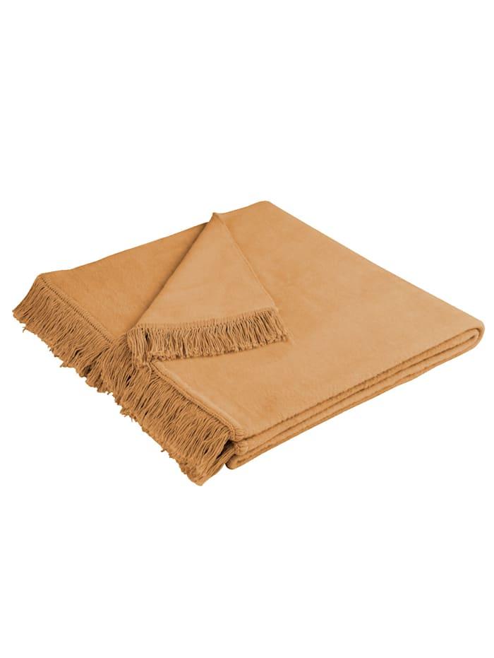 Meubelbeschermers Cover Cotton biederlack camel