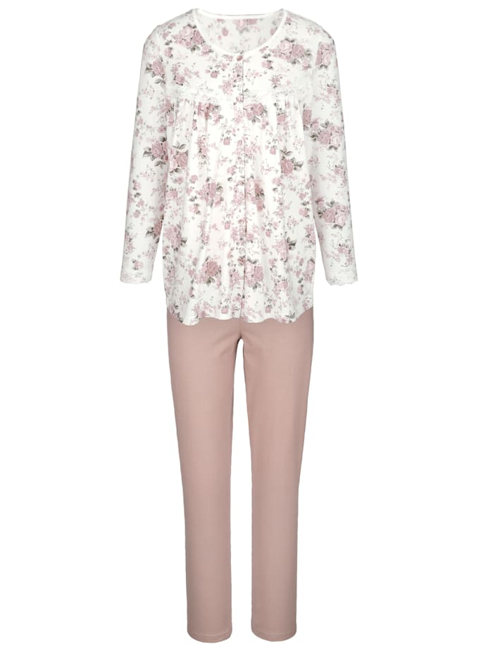 Schlafanzug Harmony Ecru::Altrosa::Taupe