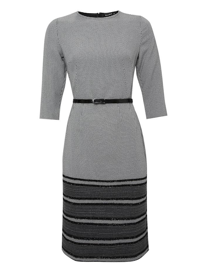 madam-t - Alltagskleid Kleid Tropicana  grau, schwarz