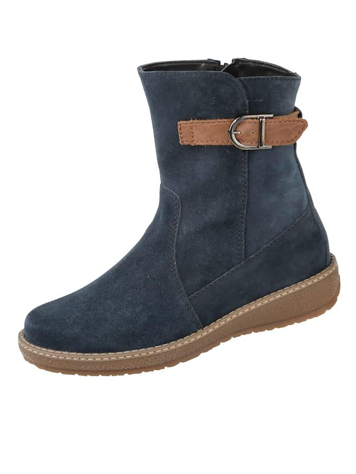 Artikel klicken und genauer betrachten! - Für Einlagen geeignet, Wechselfußbett. Flacher Absatz mit einer Höhe von 3,5 cm. Die Stiefeletten sind knöchelhoch. Guten Halt garantiert die profilierte Sohle. Darüber hinaus ist die Sohle wärmend. Für einen etwas kräftigeren Fuß geschnitten. Zum Öffnen und Schließen haben sie einen Reißverschluss. Diese Schuhe entsprechen dem Größensystem: Britisch (UK). | im Online Shop kaufen