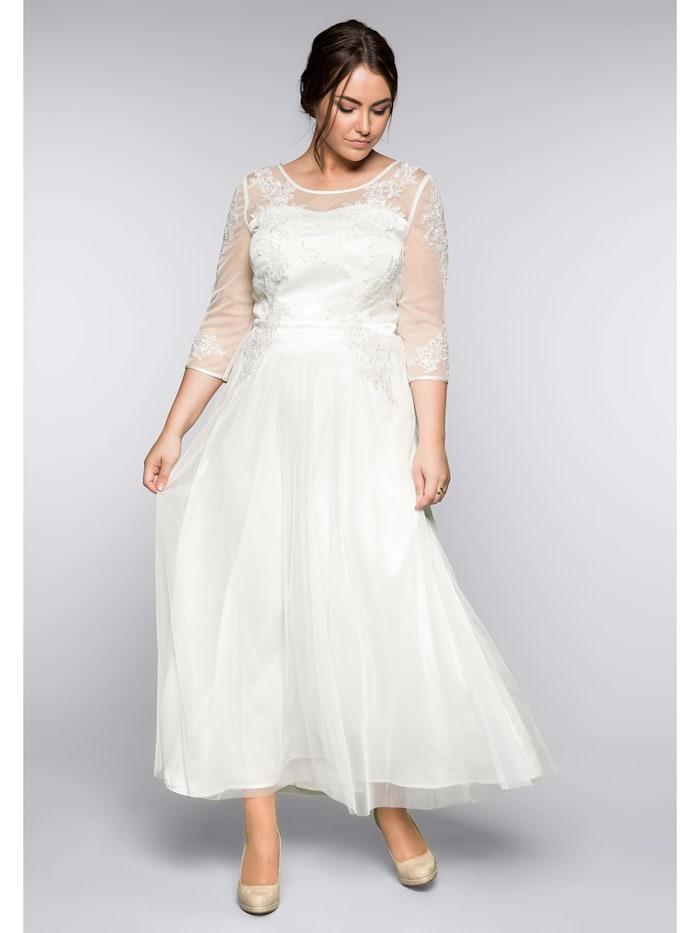 sheego -  Abendkleid  offwhite